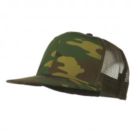 Camouflage Cotton Flat Bill Trucker Cap