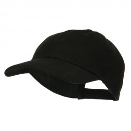 6 Panel Unstructured Pro Style Cap - Black