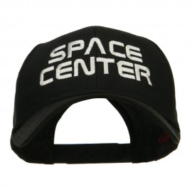Space Center Embroidered Cotton Twill Cap - Black