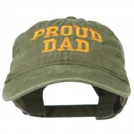 Proud Dad Letters Embroidered Washed Cotton Cap