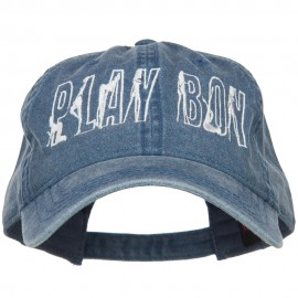 Playboy Embroidered Washed Buckle Cap