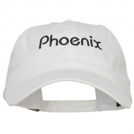 Phoenix Embroidered Washed Buckled Cap