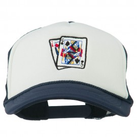 Queen Jack Card Embroidered Foam Mesh Cap