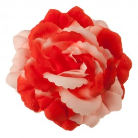 Q Flower Pin - Red Pink