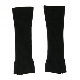 Women's Ribbed Design Arm Warmer - Black