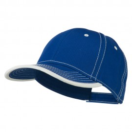 Superior Cotton Twill Structured Twill Cap - Royal White