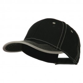 Superior Cotton Twill Structured Twill Cap - Black Grey