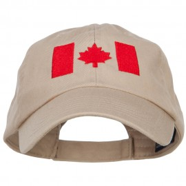 Canadian Red Flag Embroidered Petspun Cap