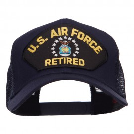 US Air Force Retired Military Patched Mesh Cap - Navy