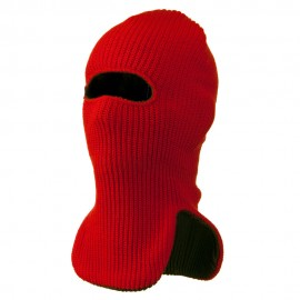 Reversible Double Layer Knit Ski Mask
