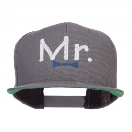 Mr Embroidered Snapback Cap