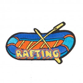 Rafting Embroidered Patches