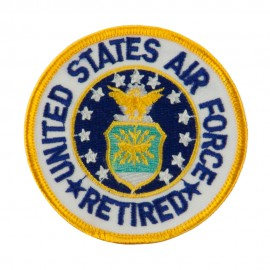 Retired Embroidered Military Patch - USAF Retired
