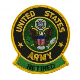 Retired Embroidered Military Patch - Army Retired