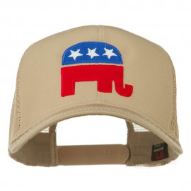 Republican Elephant USA Embroidered Mesh Back Cap