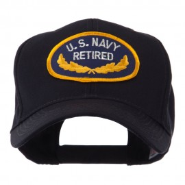 Retired Embroidered Military Patch Cap - Navy