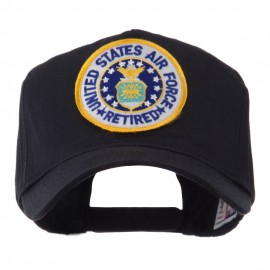 Retired Embroidered Military Patch Cap - USAF Retired