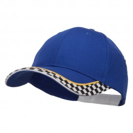 Racing Flag Print Cotton Cap - Royal