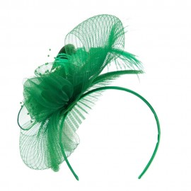 Feather and Flower Ruffle Fascinator