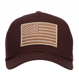 Desert American Flag Patched Cap