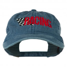 Racing Checkered Flag Embroidered Cap