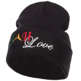 Rasta JAH Love Embroidered Long Beanie