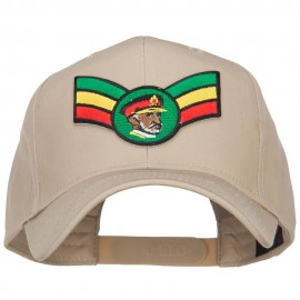 Crown Wing King Rasta Patched Cap