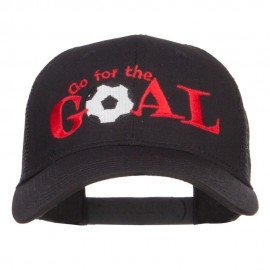 Go For Goal Embroidered Trucker Cap