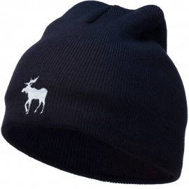 American Moose Embroidered Short Beanie
