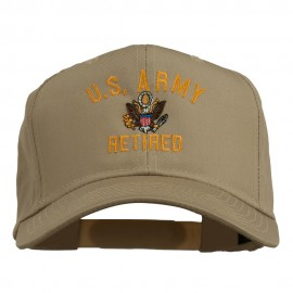 US Army Retired Military Embroidered Cap - Khaki