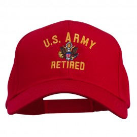 US Army Retired Military Embroidered Cap - Red