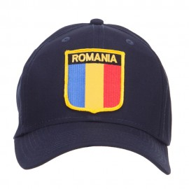 Romania Europe Flag Patched Cap