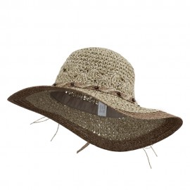 Beaded Paper Braid Sun Hat