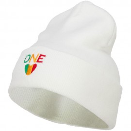 Rasta One Love Embroidered Long Beanie