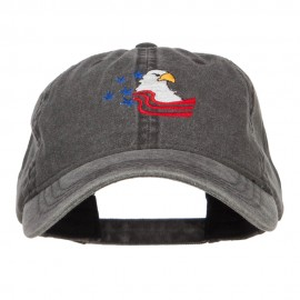American Eagle Crest Embroidered Washed Cap