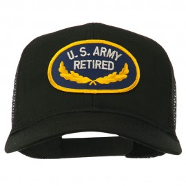 US Army Retired Emblem Patched Mesh Cap