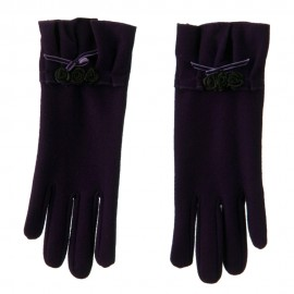 Ruffle Rose and Bow Accent Glove