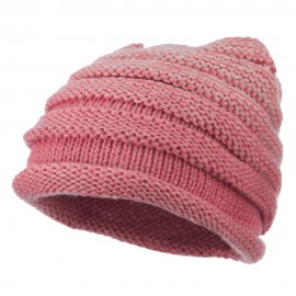 Women's Ribbed Rolled Beanie