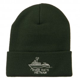 River Rats Vietnam Embroidered Long Beanie