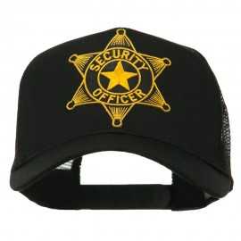 Security Officer Star Patched Mesh Back Cap - Black