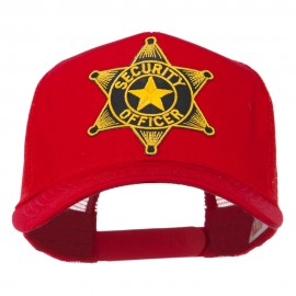 Security Officer Star Patched Mesh Back Cap