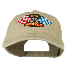 Race Series Flags Embroidered Washed Cap
