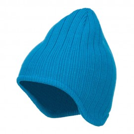 Rib Knit Ear Flap Beanie