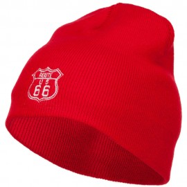 US Route 66 Embroidered Short Beanie