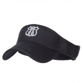US Route 66 Embroidered Cotton Twill Visor