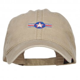 Star with Ribbon Embroidered Washed Cap