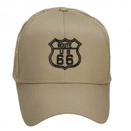 US Route 66 Embroidered Mesh Cap