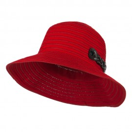 Woman's Roll Up Bucket Hat with Leatherette Snap Band