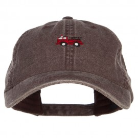 Mini Fire Truck Embroidered Washed Cap
