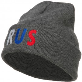 Russia RUS Flag Embroidered Long Beanie